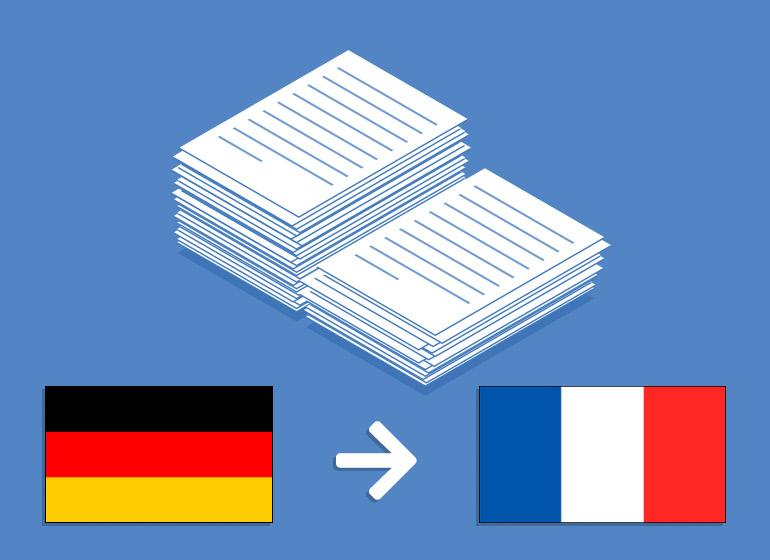 Übersetzung Deutsch > Französisch