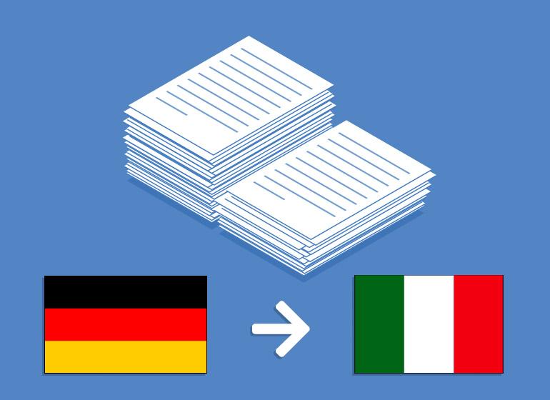 Übersetzung Deutsch > Italienisch